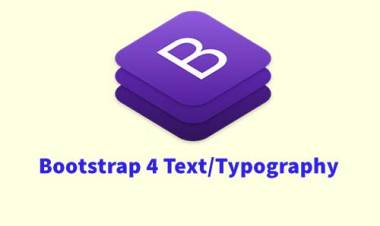 Bootstrap 4 Text/Typography